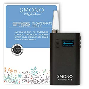 Smono Vaporizer Flowermate Pro 6.0   Verdampfer für Kräuter, Öle, Wachs und Harz l ohne Nikotin   Version 2019 Smiss