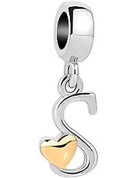 Sug Jasmin She Stole My Heart Mom Daughter Charm Beads For Bracelets & Necklaces lN5RKPTRTd