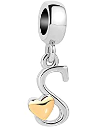 Sug Jasmin She Stole My Heart Mom Daughter Charm Beads For Bracelets & Necklaces