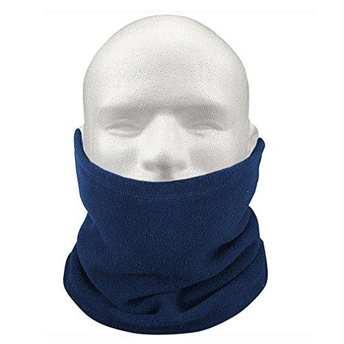 Toogoo(r) 3-in-1 sciarpa scaldacollo cappello di vello unisex termica sci snowboard - blu