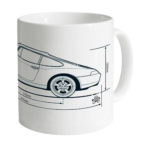 PistonHeads 933 Sports Car Becher, Weiß