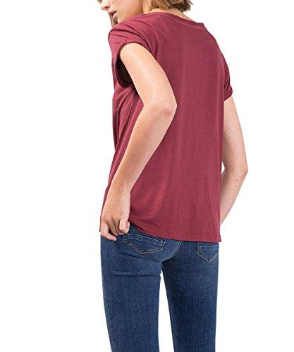 edc by Esprit 086cc1k042, T-Shirt Femme Rouge (BORDEAUX RED 600)