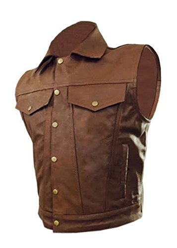 Leather Addicts -  Gilet  - Uomo Brown
