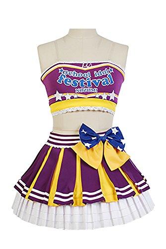 Tojo Nozomi Kostüm Cosplay (Fuman Love Live! Nozomi Tojo Cheerleaders Uniform Cosplay Kostüm)