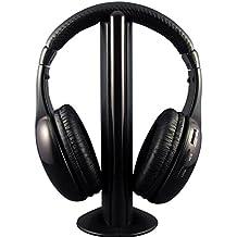 Auricular Hi-Fi Inalambrico 5en1 Supervisor Inalambrico / Auricular con cable / Radio FM /TV / Chatea en la Red sin Cable