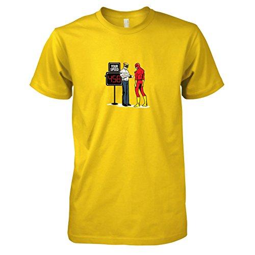 TEXLAB - Speedster Blitzer - Herren T-Shirt, Größe XXL, gelb