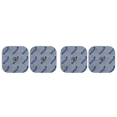 4 electrodos para electroestimuladores BLUETENS - Parches TENS EMS conexión de botón - Almohadillas calidad axion
