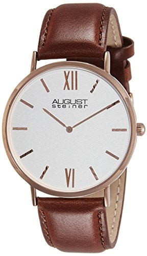 41L8BWpyXaL - August Steiner Silver Mens AS8166RGBR watch