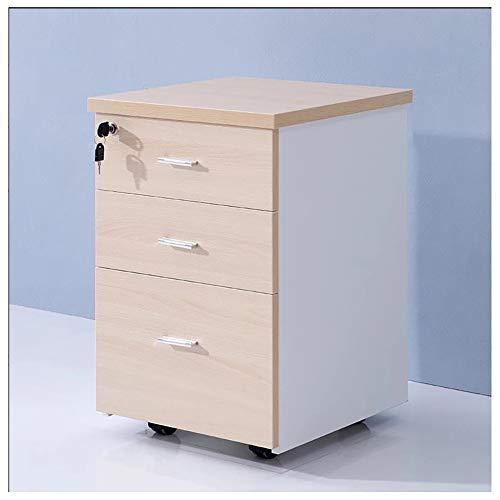 Cassettiera da ufficio schedario, lock the file cabinet, classificatore mobile in legno massello a 3 strati tipo cassetto, gabinetto di stoccaggio domestico dell'ufficio, armadio di stoccaggio