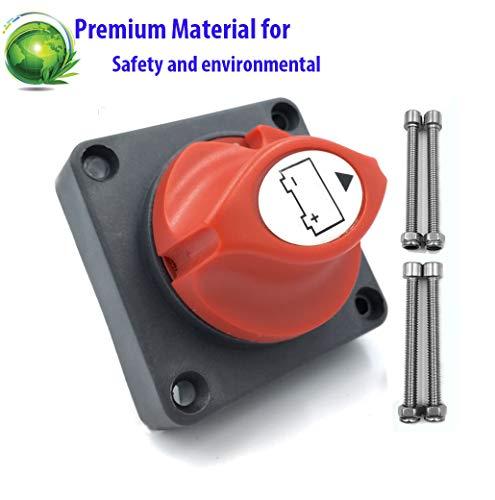 NSTART - Interruttore di disconnessione per batteria per auto, barca, camper, ATV, UTV, 12 V, 24 V, 48 V, 200/1200 A