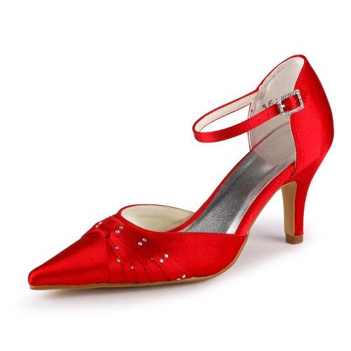 Jia Jia Wedding 3737 chaussures de mariée mariage Escarpins pour femme Rouge