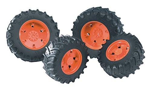 bruder 03312 Zwillingsbereifung mit orangen Felgen, Premium-pro -