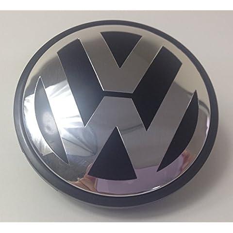 Volkswagen Nero Centro Caps COPRIMOZZO Badge Emblem 4pcs. X 65mm by goodealshop - Karmann Ghia Porsche