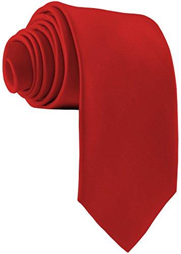 ADAMANT Herren Krawatte Klassische Form Rot 7cm Breit Lange Krawatten