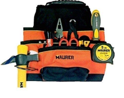 Carpenter Nylon Tasche mit 7Taschen Hammer Schlaufe Maurer