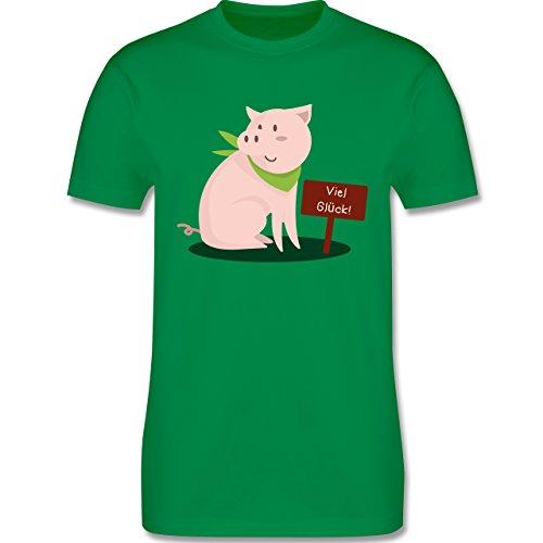Sonstige Tiere - Glücksschweinchen - Herren Premium T-Shirt Grün