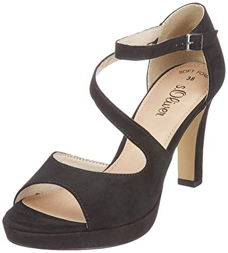 s.Oliver Damen 5-5-28323-22 001 Peeptoe Pumps, Black, 38 EU