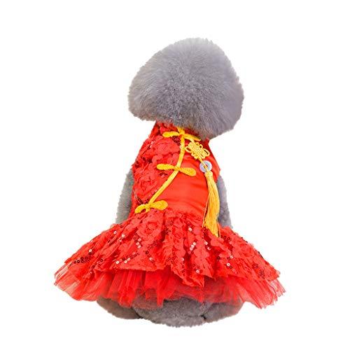 Hawkimin Pullover französisch Mode pet kostüme frühling und Sommer quaste Dekoration Spitze atmungsaktiv einfache Neue Spitze Rock