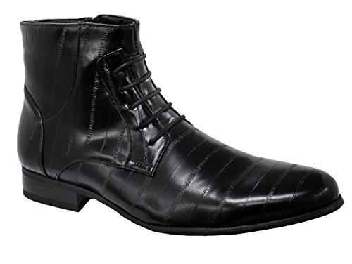 stivali-uomo-nero-casual-eleganti-mans-shoes-ecopelle-scarpe-stivaletti-sneakers-43
