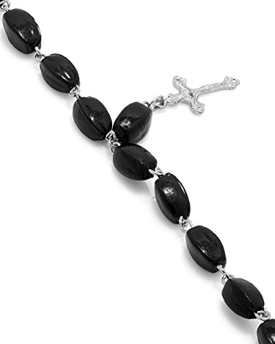 Dare Black Beaded Crucifix Charm Bracelet Gift For Men  available at amazon for Rs.229