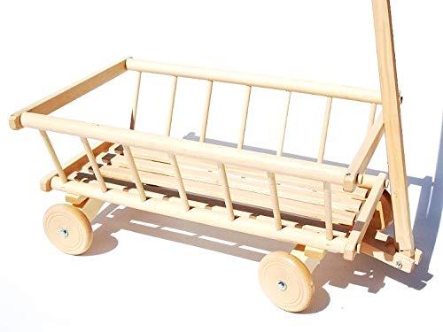 FK-Lampem Holzwagen 71 Leiterwagen aus Holz Spielzeug Transportwagen Kinder (Roh-lackiert)