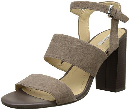 Geox Damen D Audalies High Sandalo A Knöchelriemchen, Beige (TAUPEC6029), 39 EU
