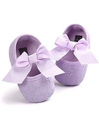 42a6a98917d79 DOTBUY Chaussures Enfants Filles Bébés, Nouveau Né Bowknot Broderie Toddler  Antidérapant Premières ...