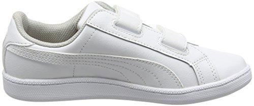 Puma Psmashfunlvpsf6, Baskets Basses Mixte Enfant Blanc (White/White 04)