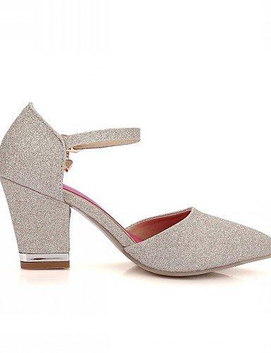 WSS 2016 Chaussures Femme-Mariage / Bureau & Travail / Habillé-Violet / Rouge / Or-Gros Talon-Talons-Talons-Similicuir golden-us4-4.5 / eu34 / uk2-2.5 / cn33