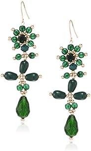 Accessorize London Green Mini Drop Drop Earrings for Women (Green) (MN-88590330001)