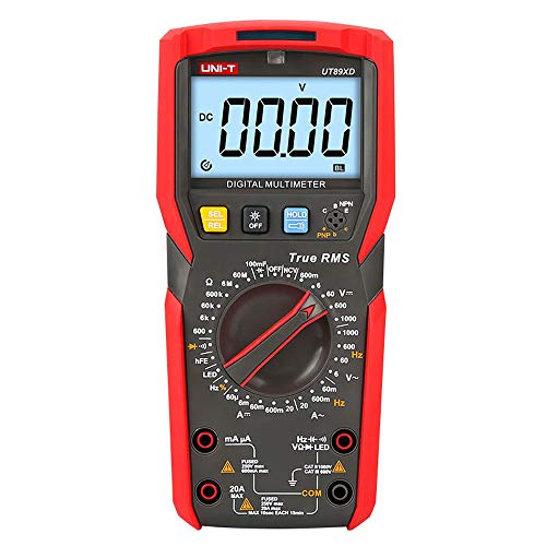 UNI-T UT89XD True RMS 6000 Counts LED digital multimeter test ac dc Voltmeter Ammeter Capacitance Frequency Resistance test ...