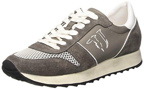 Trussardi Jeans 77S06449 Scarpe da ginnastica, Uomo, Grigio (18 Grigio), 43