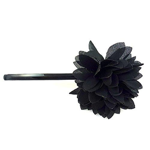 rougecaramel - Accessoires cheveux - Mini pince fleur - noir