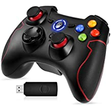 EasySMX PS3 Controller, 2.4G Wireless Controller für PC (Windows XP / 7/8 / 8.1/10) und PS3, Android, Vista, TV-Box Tragbare Gamepad