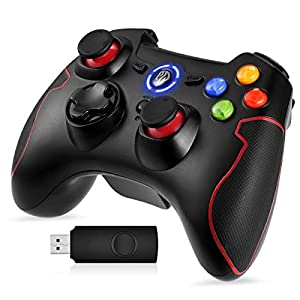 EasySMX PS3 Controller, 2.4G Wireless Gamepad, Gaming Joystick für PS3/ PC (Windows XP/ 7/8/ 8.1/10)/ Android/Steam