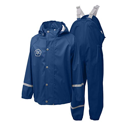 Jungen Gefütterte Jacke (Color Kids Premium Regenset Estate Blue-98)