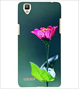 PrintDhaba Flowers D-2443 Back Case Cover for OPPO F1 (Multi-Coloured)