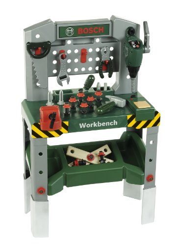 Theo Klein 8637 - Bosch Werkbank mit sound, adjustable height