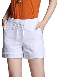 YiLianDa Hotpants Sommer kurze Hose Shorts Stoffhose Bermuda Panty 2f9237d85d