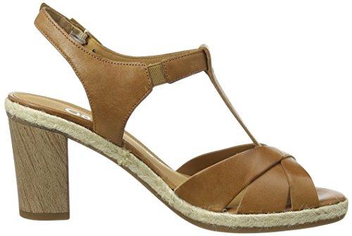 Gabor Fillmore, Sandales Plateforme femme Marron - Marron (cuir marron)