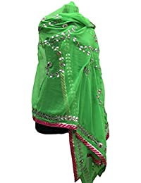 Jaipur Rajasthani Georgette Dupatta With Gota Patti Work & Gota Patti Border