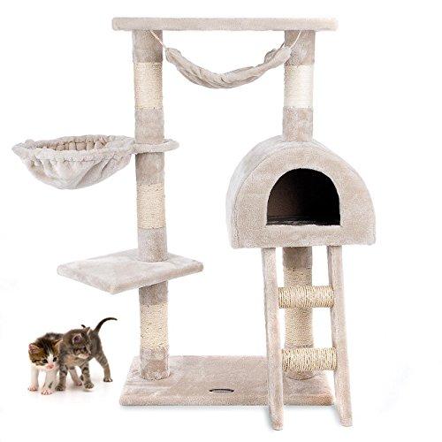 Produktabbildung von Kratzbaum Katzenbaum CAT018-2 Mittelhoch 100 cm Beige