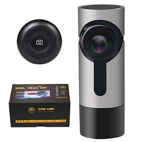 AXNYLHY Car 1080p hd Dash cam nachtsicht Wireless WiFi kein Bildschirm Panorama Fahren Recorder Auto dvr Kamera, 152 Grad weitwinkel, parkmonitor,Silver