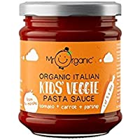 Mr Organic Salsa de Pasta Para Niños Tomate 200g (Pack de 3)
