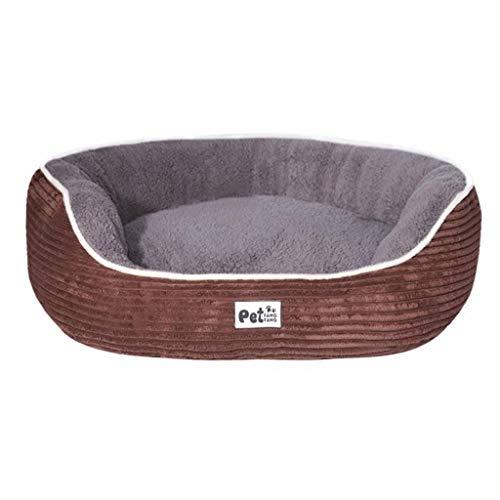 Haustierbett Super Soft Pet Bed Basket Bettkissen für Katzenwelpen und kleine Hunde (Color : Brown, Size : S) -