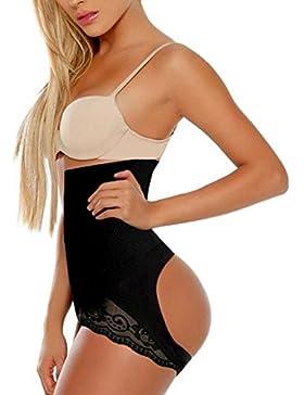 KEALLI Mujer cintura alta caderas ropa interior de pérdida de peso efecto de vientre plano
