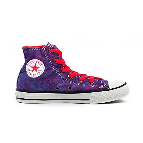 Converse Chuck Taylor All Star Tie Dye Hi, Baskets mode mixte enfant Violet, rose et rose fluo