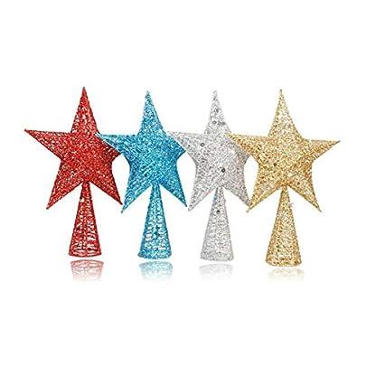 Rocita-1-Stck-Baumspitze-Stern-Weihnachtsbaum-Topper-Exquisite-Schimmernder-Stern-Weihnachtsbaum-Dekoration-Metall-Christbaum-Spitze-30-cm-Silber