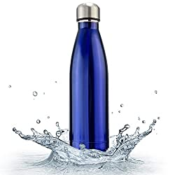 Zafos Pexpo Blue- 500ml Vacuum Hot & Cold Water Bottle 304 Grade Stainless Steel Thermos- Keep Drinks Hot or Cold More Than 20hrs