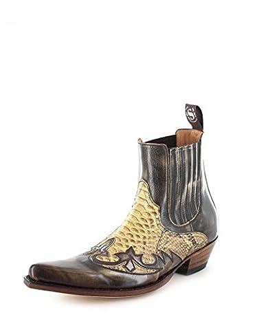 Sendra Boots 9396P Exotic Python Print Cowboy Boots Multicolour Size: 9